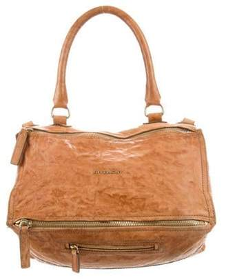 Givenchy Distressed Leather Pandora Satchel gold Distressed Leather Pandora Satchel