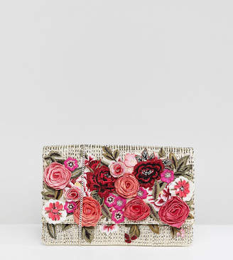 Accessorize Roma Floral Embroidered Clutch