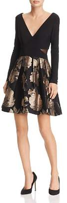 Avery G Brocade Party-Skirt Dress