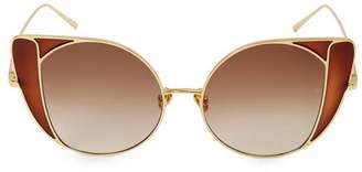 44ecb6786742 Linda Farrow Wide Cat-Eye Sunglasses