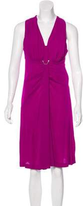 Louis Vuitton Gathered Sleeveless Dress