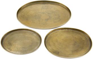Pols Potten Antique Brass Oval Platters
