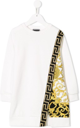 Versace Baroque printed panel sweatshirt