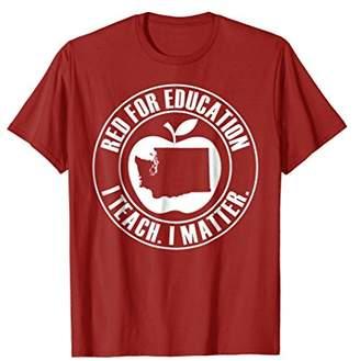 Red for Ed Washington State Teacher Union Shirt Women Men