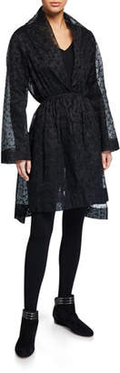 Alaia Floral Organdy Robe Dress
