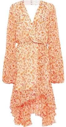 Caroline Constas Olivia Wrap-effect Ruffled Floral-print Silk-chiffon Dress