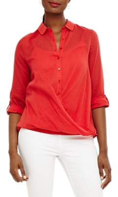 Phase Eight Poppy Cross Over Blouse, Chilli Red