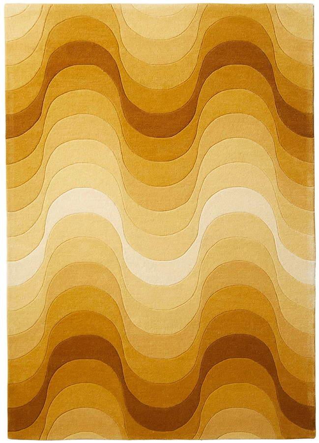 Wave Teppich, 240 x 170 cm, Gelb
