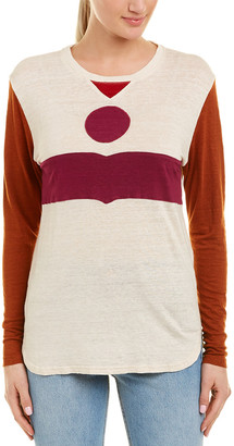 Isabel Marant Colorblocked Linen Top