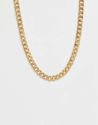 Asos Design DESIGN short chunky chain in gold tone