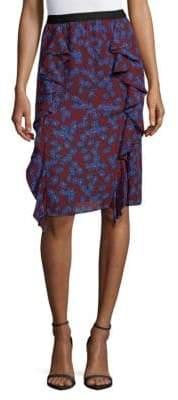 Sonia Rykiel Margaret Pull-On Ruffle Skirt