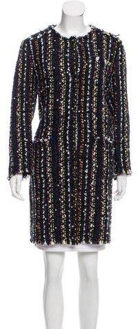 MSGM Tweed Embellished Coat
