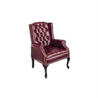 Office Star Work Smart by Products Traditional Queen Anne Style Chair, Mahogany