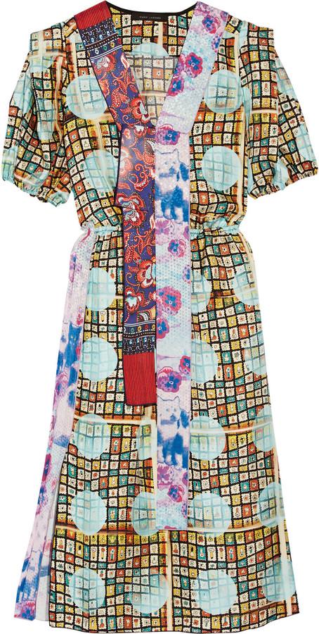 Marc JacobsMarc Jacobs Printed silk-twill dress
