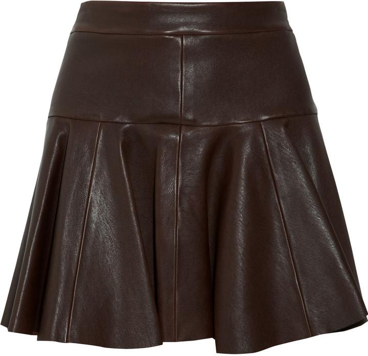 Thakoon Leather skater skirt