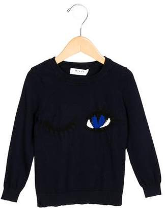 Milly Minis Girls' Intarsia Knit Sweater
