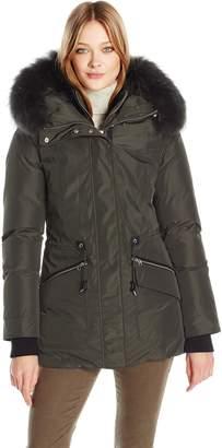 Mackage Women's Katryn Hip Length Classic Down Jacket with Fur Hood