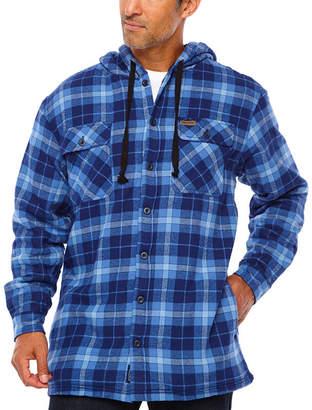 Smith Workwear Smith Microfleece Lined Hooded Flannel Shirt Jacket