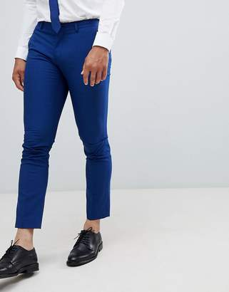 Selected Skinny Suit PANTS In Blue With Stretch