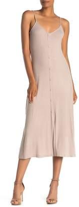 ALL IN FAVOR Ribbed Knit Midi Dress