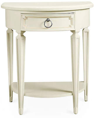Stone & Leigh Fluted Single Drawer Nightstand - White