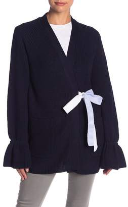 ENGLISH FACTORY Flutter Sleeve Tie Cardigan