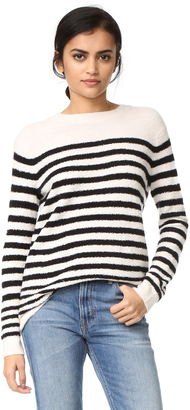 Vince Engineered Striped Pullover $345 thestylecure.com