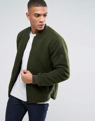 Solid Jacket In Teddy Yarn