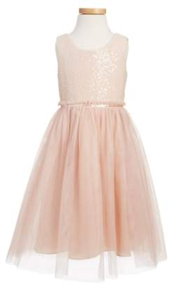 Jenny Yoo Collection Rosalie Sequin & Tulle Dress