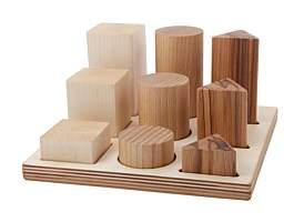 story. Wooden Xl Natural Shape Sorter Board