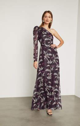 BCBGMAXAZRIA Trailing Foliage Gown