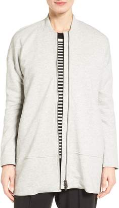 Eileen Fisher Brushed Back French Terry Jacket