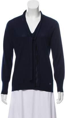 Burberry Wool Long Sleeve Top