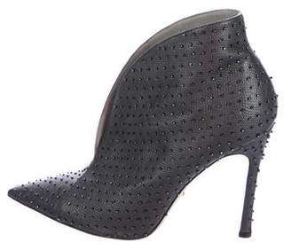 Sergio Rossi Beaded Leather Booties