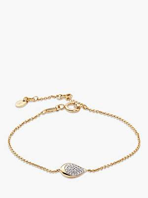Modern Rarity Diamond Teardrop Chain Bracelet
