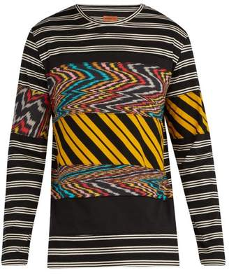 Missoni Mare - Striped Cotton Long Sleeve T Shirt - Mens - Black Multi