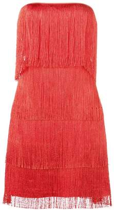 Alexis fringed bandeau mini dress