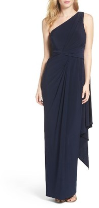 Women's Adrianna Papell Jersey Column Gown $169 thestylecure.com