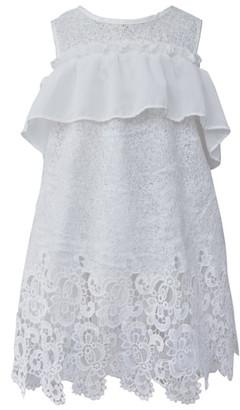 Popatu Ruffle Lace Shift Dress
