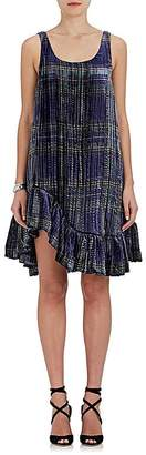 Jourden Women's Ruffle Plaid Velvet Dress