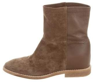 Vince Suede Wedge Ankle Boots