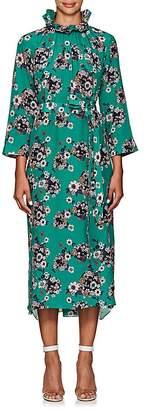 Teija Women's Belted Floral-Print Silk Midi-Dress