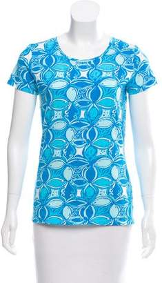 Lilly Pulitzer Printed Short Sleeve Top