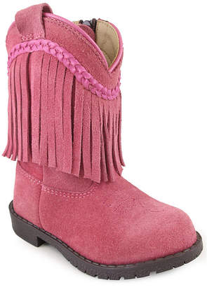 SMOKY MOUNTAIN Smoky Mountain Girl's Hopalong Fringe Side Zipper Suede Cowboy Boot Toddler
