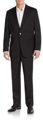 Calvin Klein Slim-Fit Tonal Striped Wool Suit