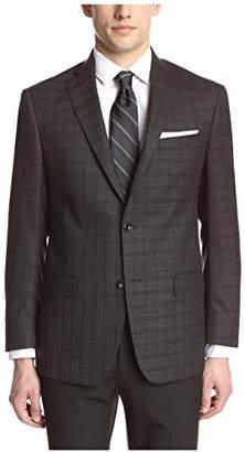 Franklin Tailored Men's Black Tonal Large Check Sport Coat
