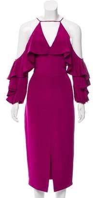 Cushnie et Ochs Silk Cold Shoulder Dress