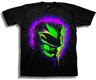 Power Rangers Boys' Neon Helmet Mask With Sparks Short Sleeve Graphic T-Shirt