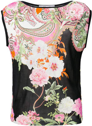 Blugirl floral fitted T-shirt