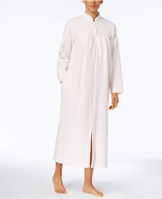 Miss Elaine Brushed-Back Terry Zip-Front Long Robe $72 thestylecure.com